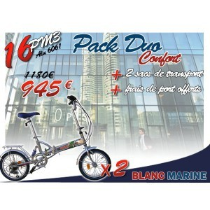 [PACK DUO CONFORT] 16PM3 VÉLOS PLIANTS